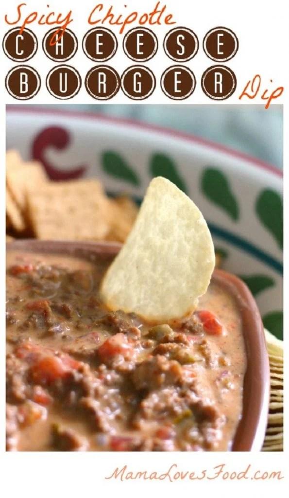Spicy Chipotle Cheeseburger Dip Recipe