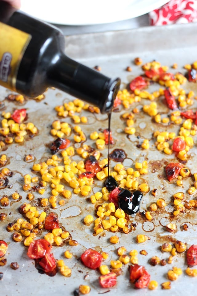 Creamy Sweet Corn Soup with Roasted Corn and Tomato Relish