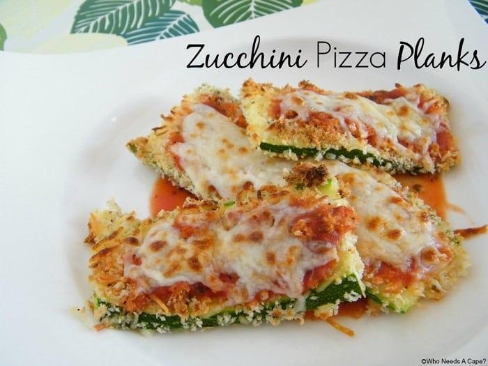 Zucchini Pizza Planks