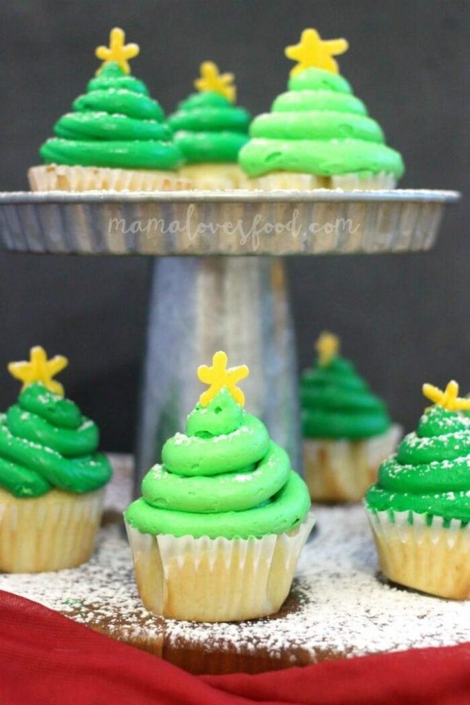 EASY CHRISTMAS TREE CUPCAKE