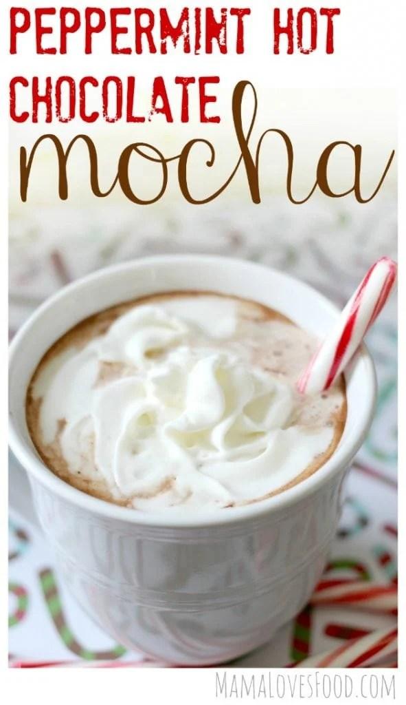 Peppermint Hot Chocolate Mocha Recipe Better Than Starbucks