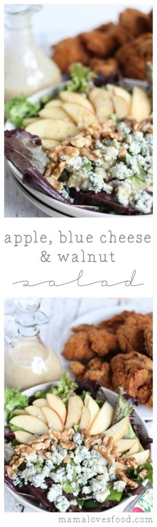 Apple, Blue Cheese & Walnut Salad Recipe