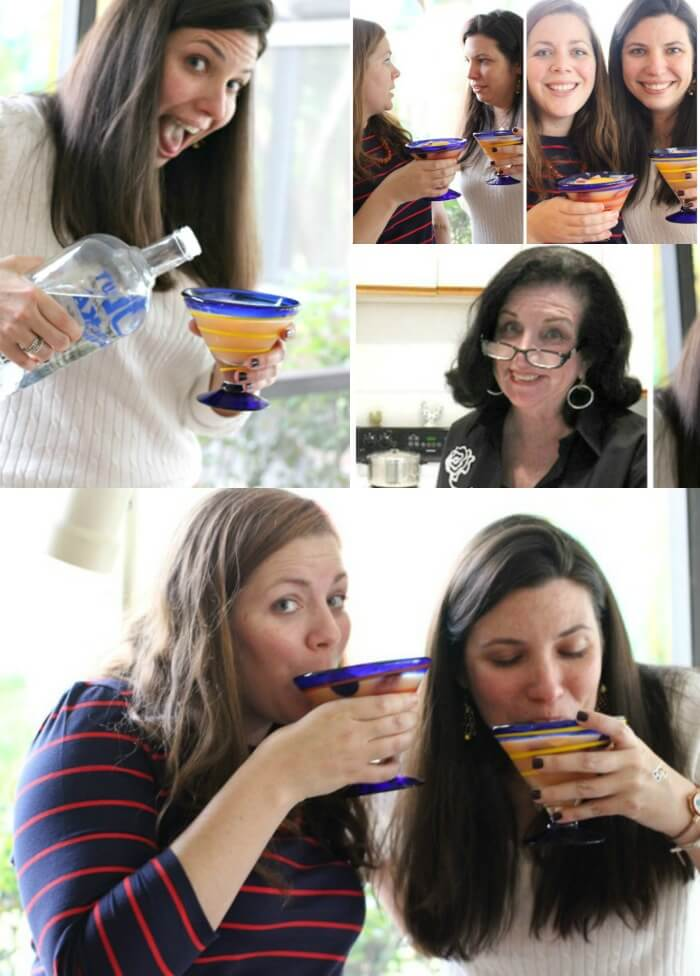 DRINKING SHERBET PUNCH AT WEDDING SHOWER