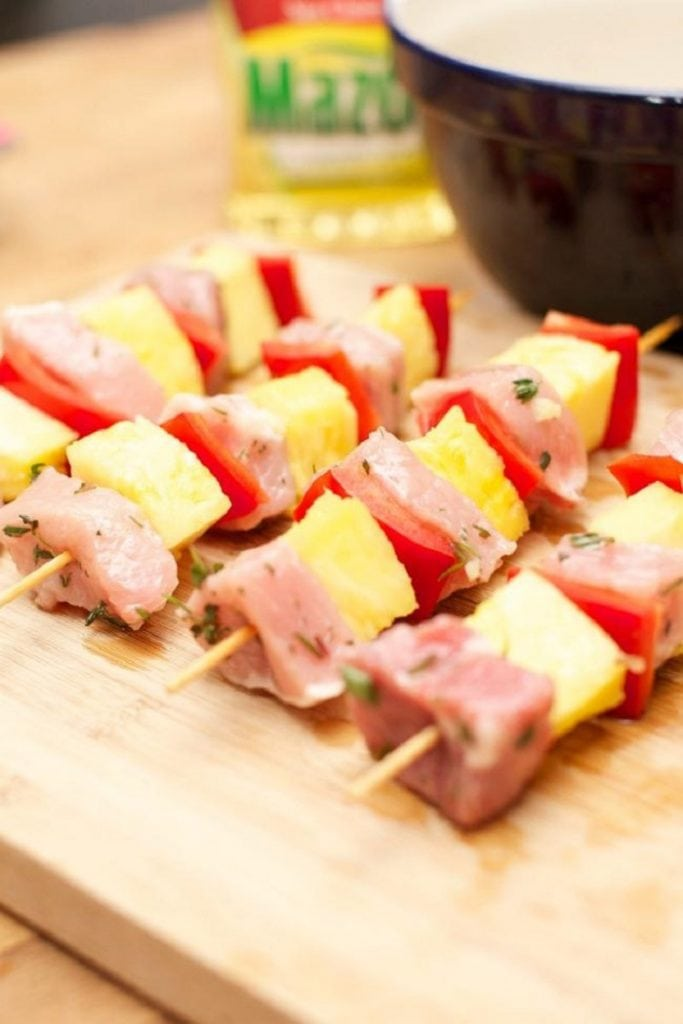 Pineapple Pork Skewers
