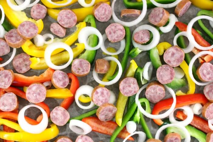 sheet pan sausage and peppers recipe
