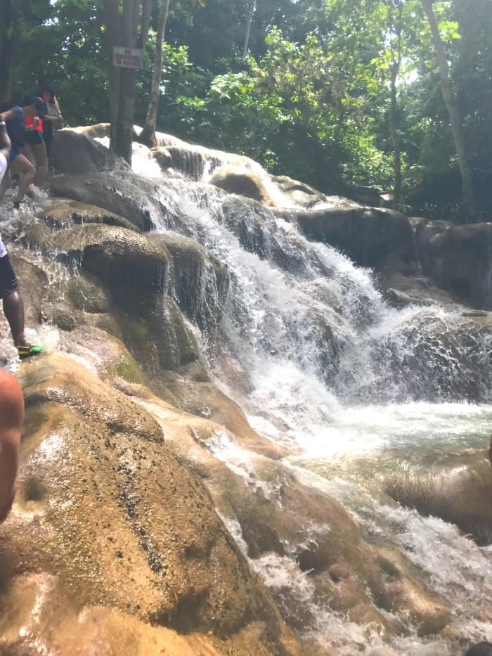 dunns river falls rapids climbing the waterfall