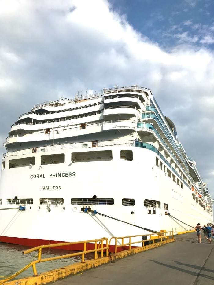 Coral Princess travels through the Panama Canal