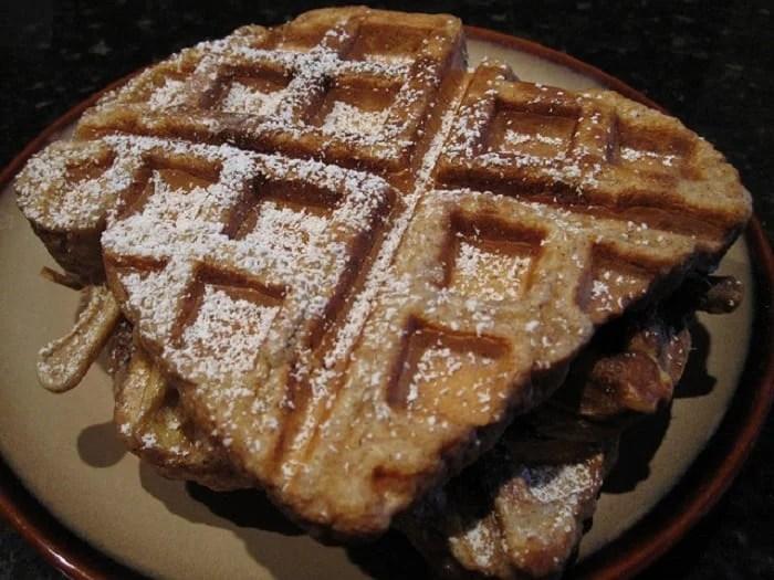 Fluffy Whole Wheat French Toast Waffles