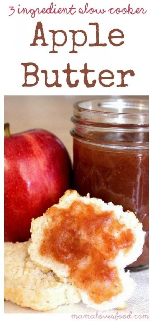 3 Ingredient Slow Cooker Apple Butter