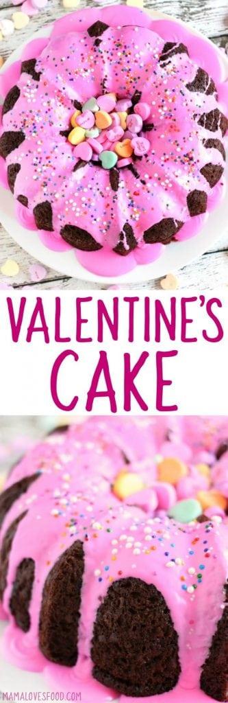 VALENTINES DAY BUNDT CAKE