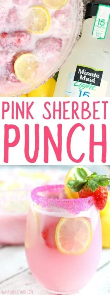 PINK SHERBET PUNCH RECIPE