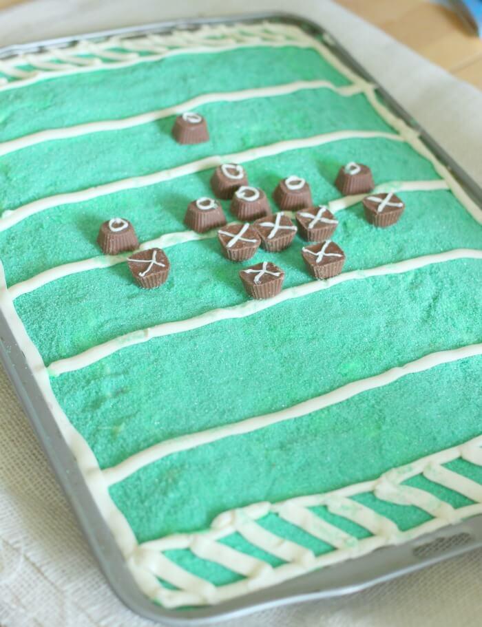 FOOTBALL FIELD CAKES