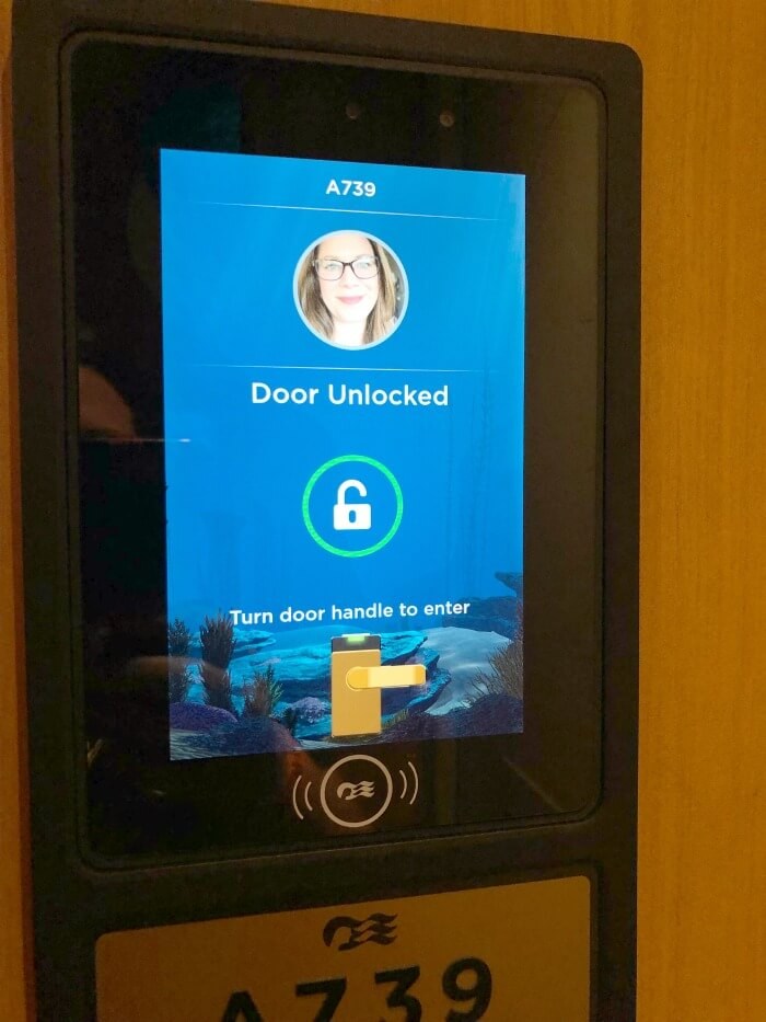 KEYLESS ENTRY WITH WIFI ENABLED MEDALLION ON CRUISE SHIP