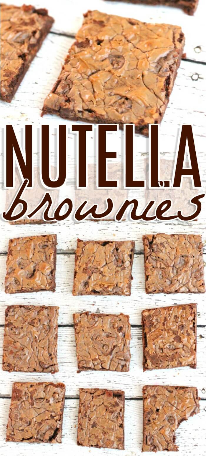 BEST NUTELLA BROWNIES RECIPE