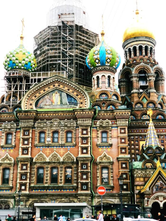 RUSSIAN CATHEDRAL IN ST PETERSBURG