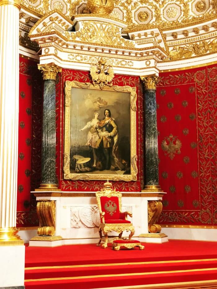 THRONE AT HERMITAGE ST PETERSBURG RUSSIA
