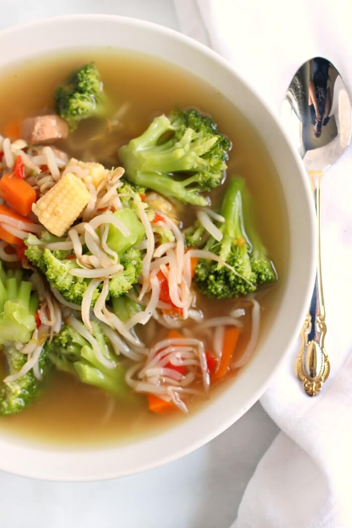CHICKEN CHOW MEIN SOUP