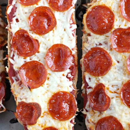 HOMEMADE FRENCH BREAD PIZZA 1