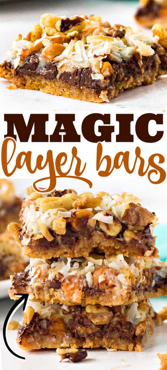 7 LAYER MAGIC COOKIE BARS