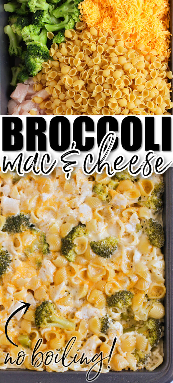 EASY BROCCOLI MAC AND CHEESE