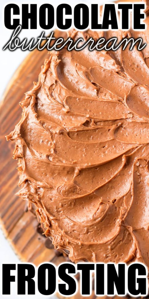 BEST CHOCOLATE CAKE FROSTING