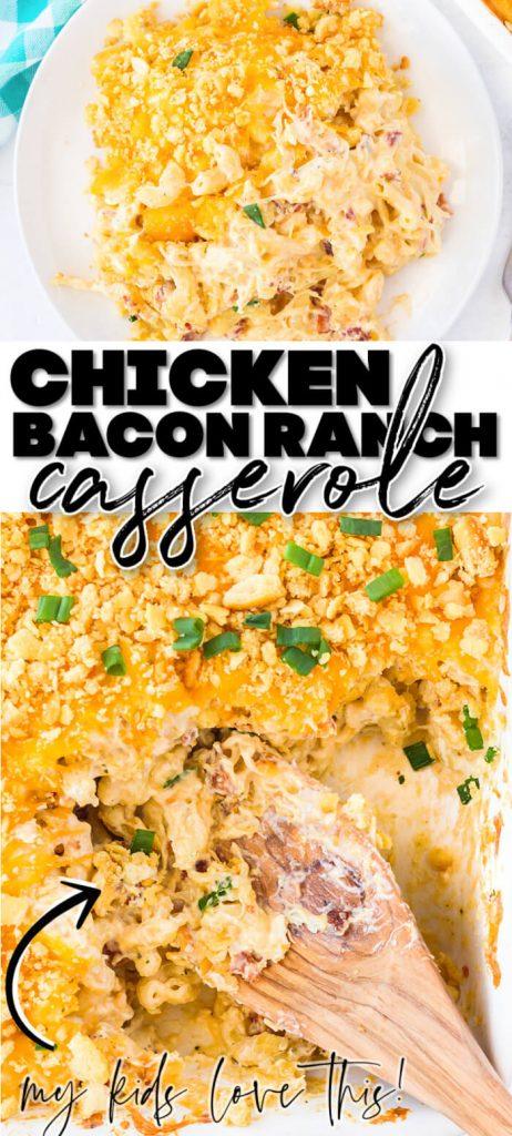 BEST CHICKEN BACON RANCH CASSEROLE RECIPE