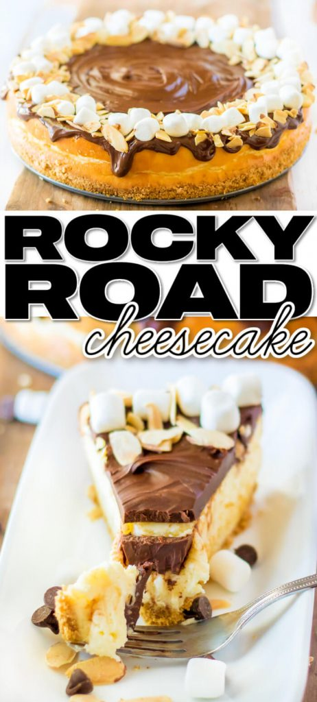 BEST HOMEMADE ROCKY ROAD CHEESECAKE
