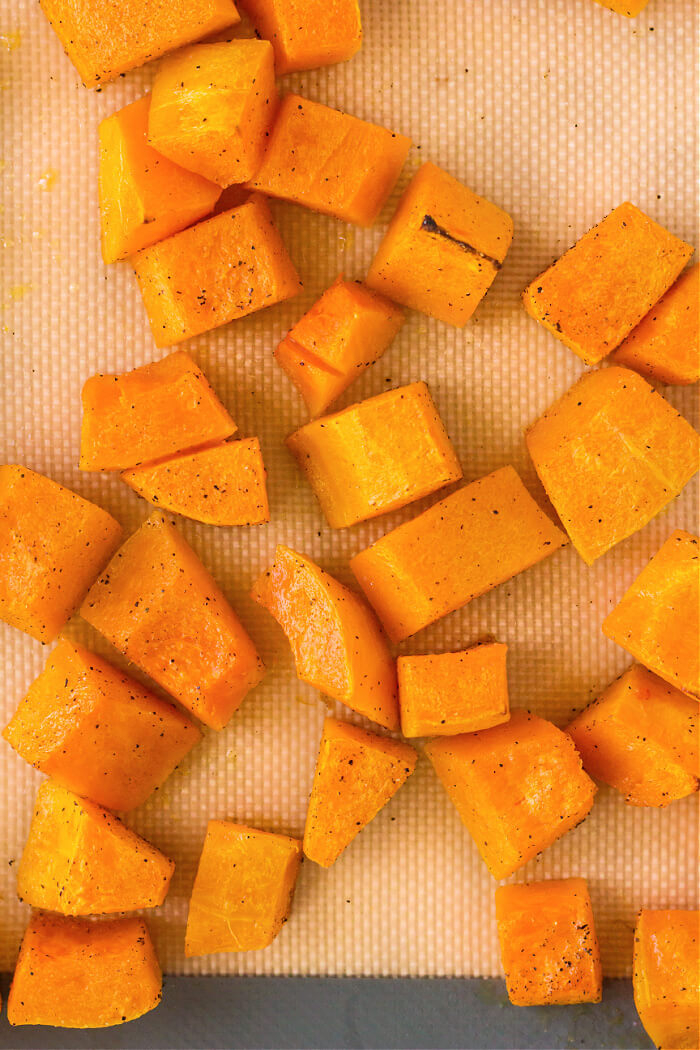 CUBED ROASTED BUTTERNUT SQUASH