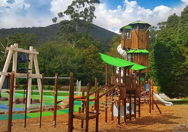Warburton Community Recreation Reserve Playground, Woods Point Road, Warburton