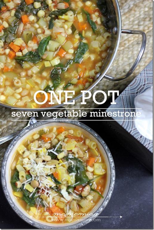 Seven Vegetable Minestrone Soup | @mamamissblog #FluRemedy #veggie #healthy #soup