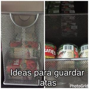 latas en despensa