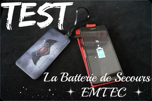 Batterie de secours externe EMTEC Batman V Superman