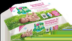Lingettes et couches écologiques Love&green