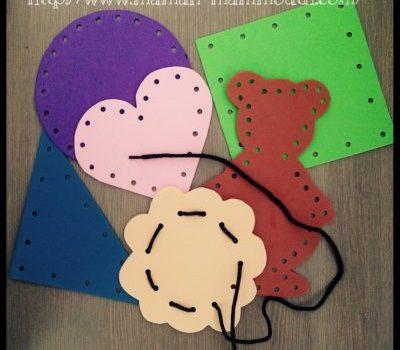 DIY cartes à lacer
