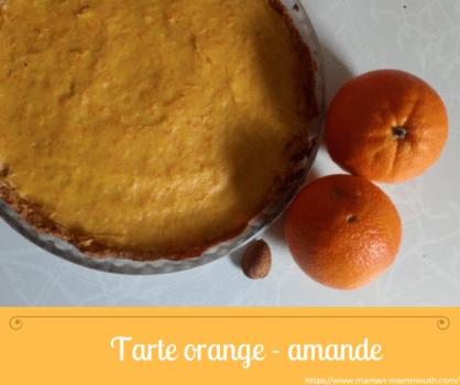 Recette tarte orange et amande