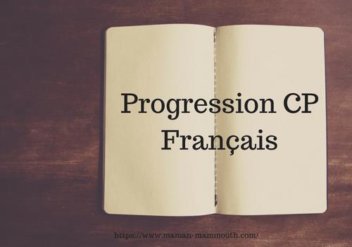 IEF : Progression CP en français
