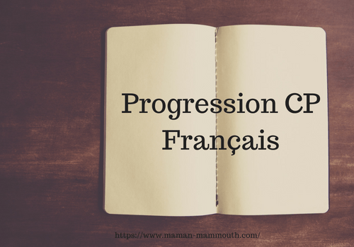 IEF : progression CP français