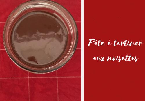 Recette de pâte à tartiner aux noisettes