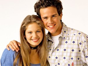 UNITED STATES - SEPTEMBER 14: FULL HOUSE - Season Seven - Gallery - 9/14/93, Candace Cameron (D.J.), Scott Weinger (Steve), (Photo by Bob D'Amico/ABC via Getty Images)