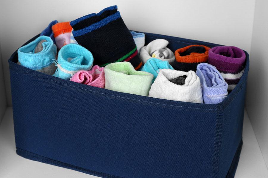 Boîtes de rangement en tissu