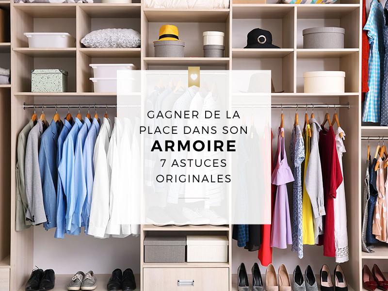 7 astuces originales pour gagner de la place dans son armoire à vêtements