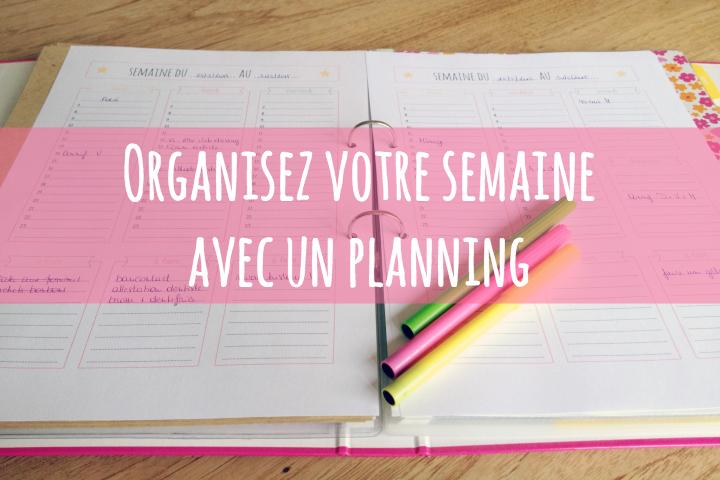 Planning détaillé de la semaine