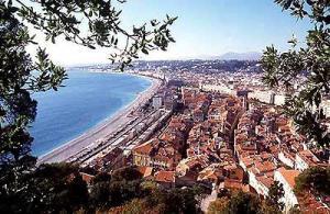 Vue de la baie de Nice depuis le Chateau (image Nice.fr)