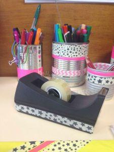 pots à crayon conserves