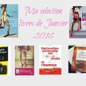 Livres de janvier 2016, la sélection coup de coeur