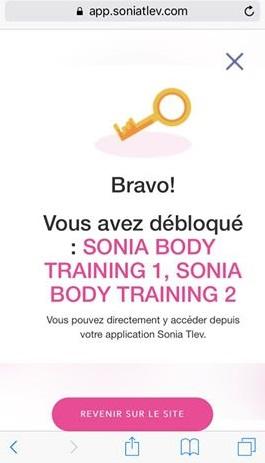 sonia body training code
