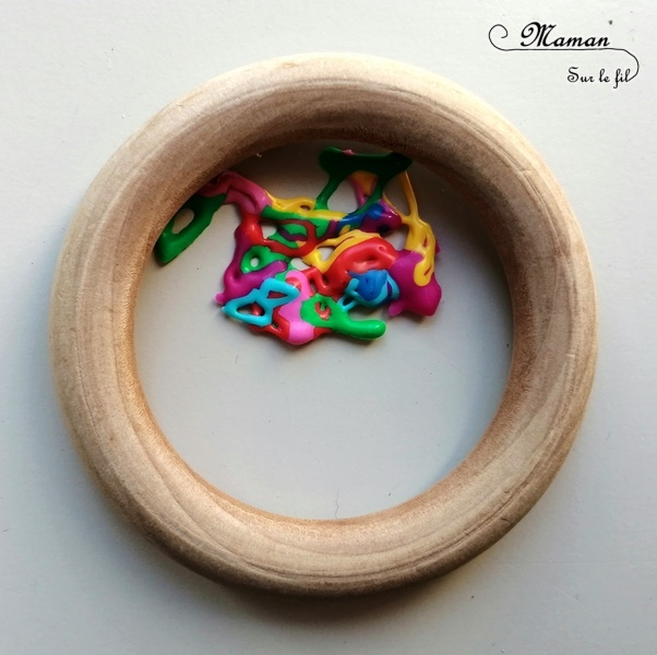 Activité créative enfants - Ojos de dios - Tissage mexicain revisité avec des perles fondues au four - perles de rocaille en plastique et perles hama à repasser - dans des anneaux en bois de rideaux - Mandalas ou libre - Amérique du Nord et Mexique - Découverte d'un pays - Espace et géographie - bricolage - arts visuels Cycle 1, 2 et 3 - Eté - mslf