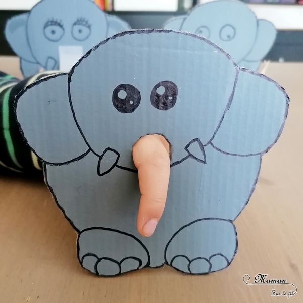 Activité créative et manuelle enfants - Fabriquer un un éléphant en carton - Jeu DIY - Créer la trompe de l'éléphant - Imagination et créativité - Récup en carton et peinture - Bricolage Jeu DIY - Fait maison - Afrique et Kenya - Découverte d'un pays - Animaux de la savane - Espace et géographie - arts visuels et atelier maternelle et Cycle 1 - Eté - mslf