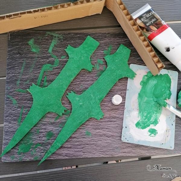 Activité créative et manuelle enfants - Fabriquer un crocodile en carton - grande mâchoire et dents - Récup en carton et peinture - Bricolage 3D en relief - Fait maison - Afrique et Kenya - Découverte d'un pays - Animaux de la savane - Espace et géographie - arts visuels et atelier maternelle et Cycles 1 et 2 - Eté - mslf