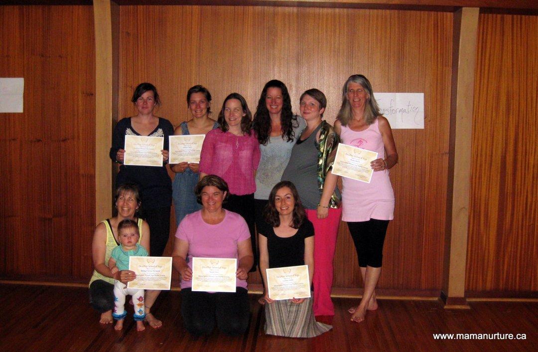 2014 London, ON graduation of MamaNurture Prenatal Yoga Certification